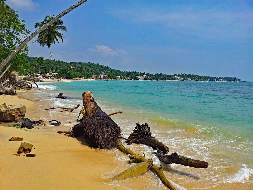 Sri Lanka praia
